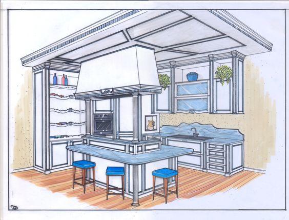 Disegno Progetto cucina su misura