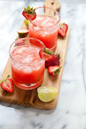 Fresh Strawberry Margaritas | Annie's Eats | Bloglovin':
