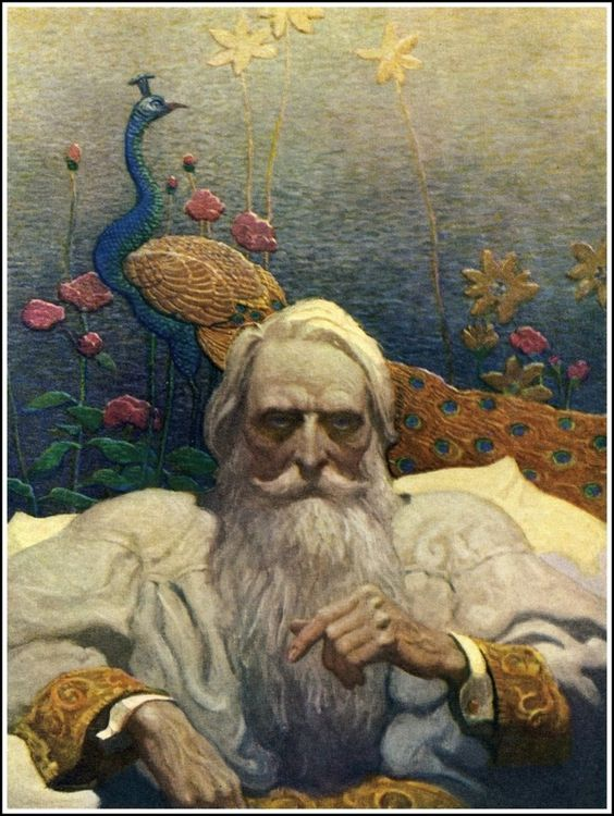 Captain Nemo, illustration by N.C. Wyeth from a 1918 edition of The Mysterious Island by Jules Verne