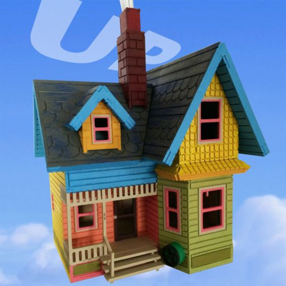 3D house puzzle from the movie up from Disney laser cut