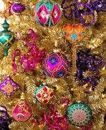 Holiday Lane Christmas Ornaments, Bohemian Tree Theme