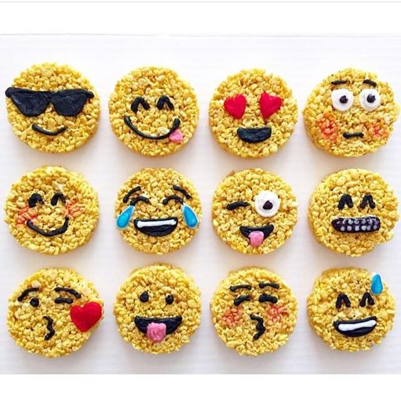 Emoji Rice Krispie Treats - For all your cake decorating supplies, please visit craftcompany.co.uk