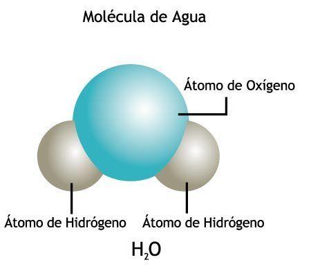Estructura Química La Molécula De Agua H2o Posee Una