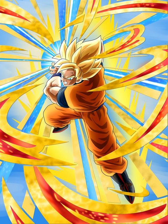 Goku Similar To Dokkan Battle By Monodoomz Dragon Ball Art Dragon Ball Super Manga Anime Dragon Ball