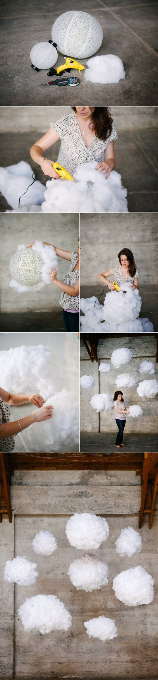 Fai da te lampada a forma di nuvola how to diy cloud for Ikea cuscino nuvola