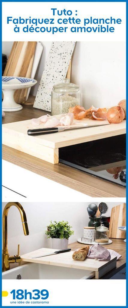 Tuto Fabriquez Une Planche A Decouper Gain De Place Pour Moins De 5 Euros Agencement Cuisine Trucs Et Astuces Bricolage Et 18h39