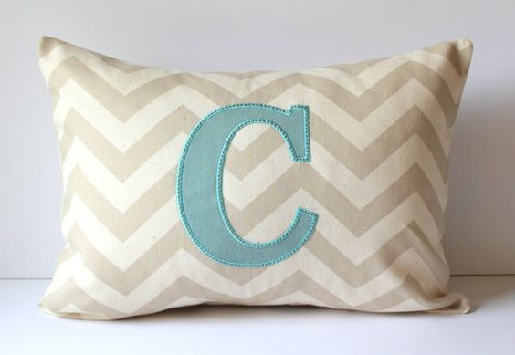 Initials Pillow Covers And Monogram Pillows On Pinterest