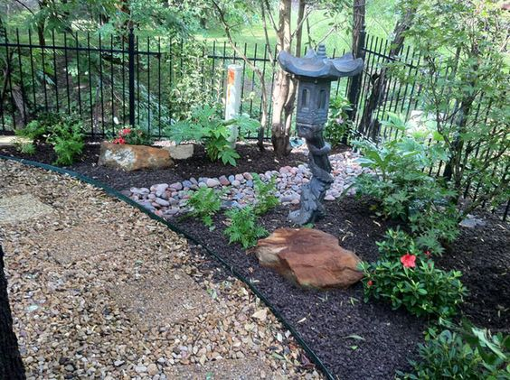 xeriscape and hardscape with an oriental turn