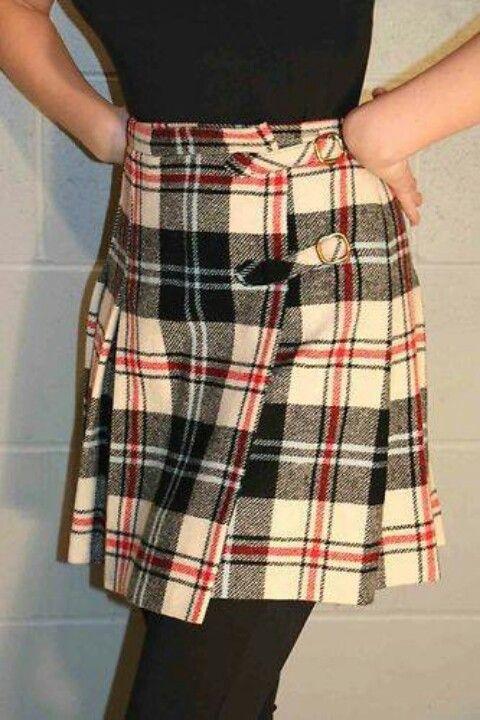 La falda escocesa años 70.