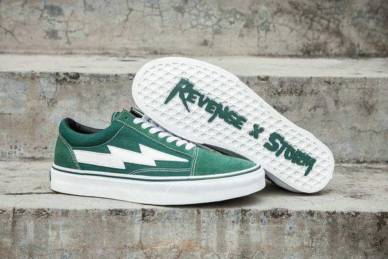 Revenge X Storm Ii Vol 1 Vans Old Skool Green White Gd115 Rsfw17fw000 Skate Shoe Vans Casual Shoes Sneakers Running Shoes For Men