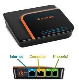 vonage vdv22 vd digital phone adapter by vonage the vonage box is a voip gateway and. Black Bedroom Furniture Sets. Home Design Ideas