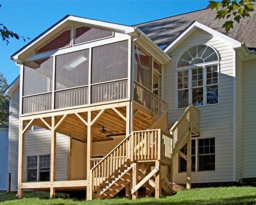Best Screened In Porch Over A Covered Open Deck Patio Love It 400 x 300