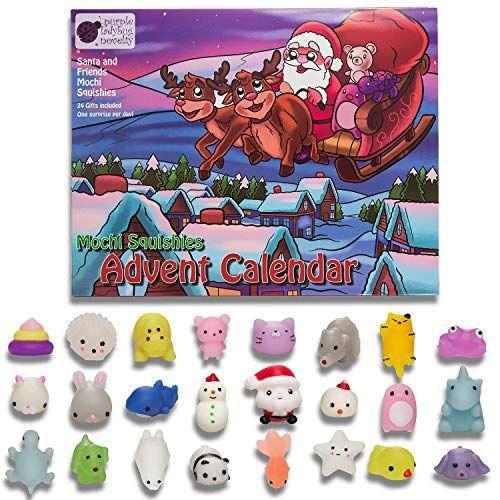 Mochi Squishy Kids Advent Calendar With 24 Different Cute Mochi