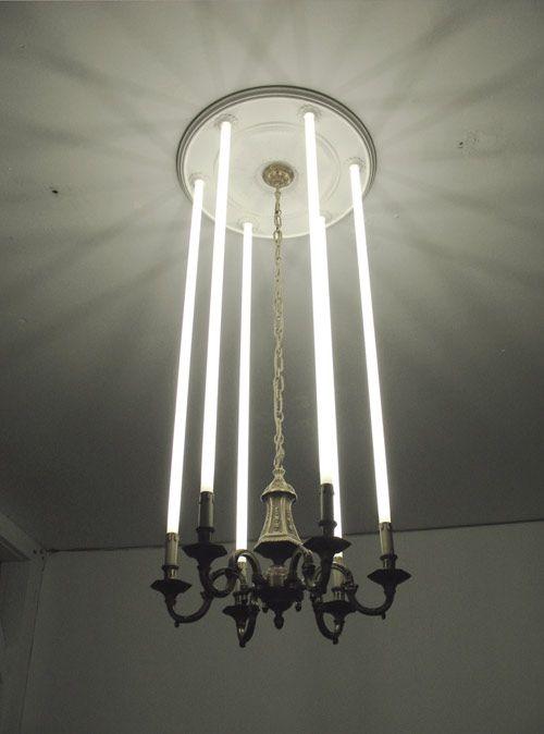 tube chandelier: Interior, Fluorescent Tube, Lightsaber Chandelier, Art Design, Star Wars, Light Fixture