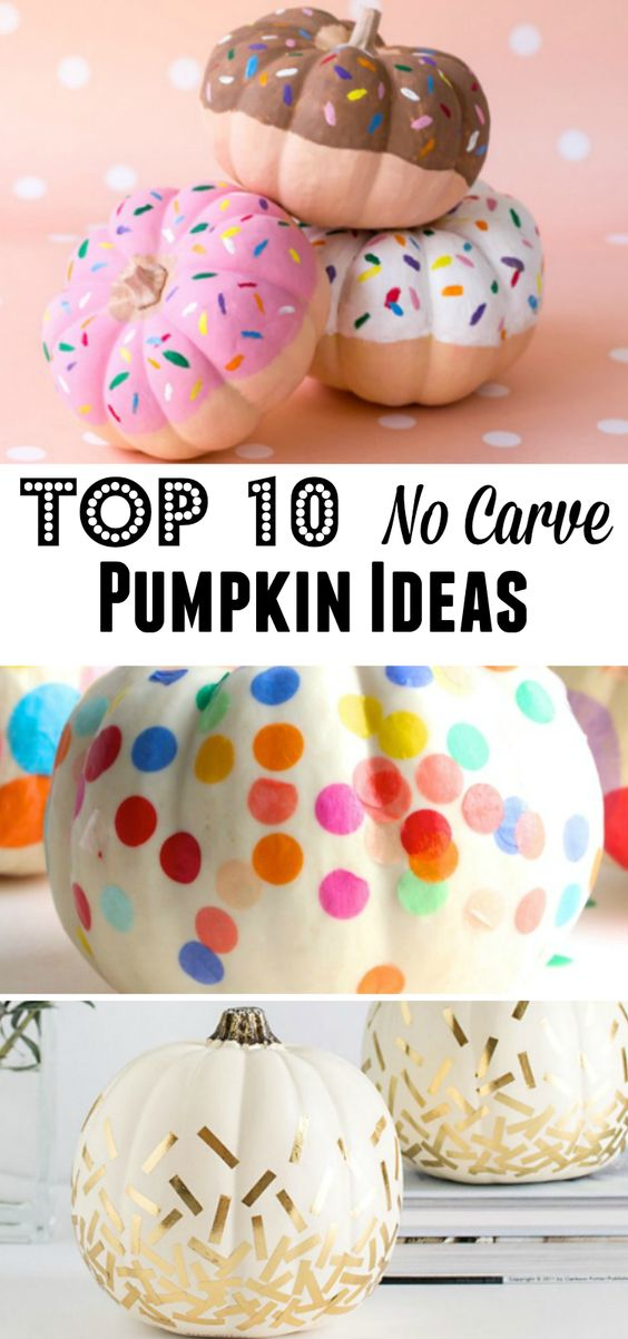 Such smart ideas to decorate pumpkins without having to carve! My favorite is #4!: