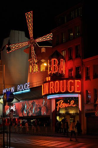 Moulin Rouge, Paris. Ruffles, feathers, beads, sparkles, pearls, diamonds, satin, lace. All the things girls love.: