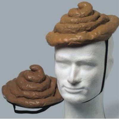 Because what's better than wearing poop on your head?