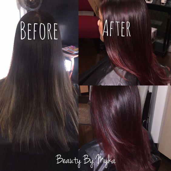 coloration cheveux aubergine tresses coupes hiver occasionnel carlye myka tresses de couleur ides de couleur aubergine balayage cuts ect - Coloration Cheveux Aubergine