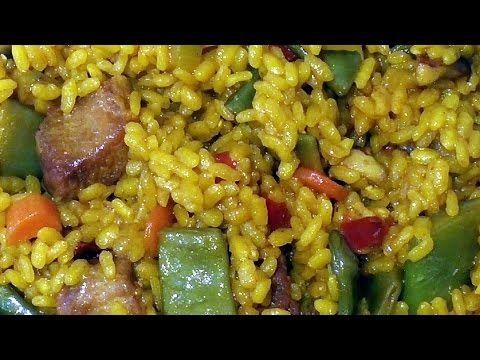 Receta De Cocina De Un Delicioso Arroz Con Secreto Ibérico Y Verduras Hecho En Olla Exprés Fácil Económico Y Muy Rico Comida Verduras Arroz