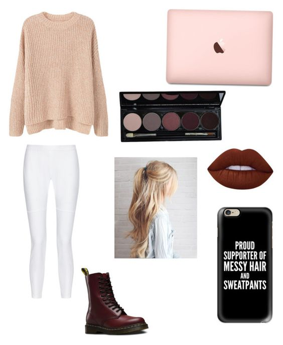 """""""Stay home days"""" by fizzyem ❤ liked on Polyvore featuring MANGO, 10 Crosby Derek Lam, Dr. Martens, Lime Crime and Casetify"""