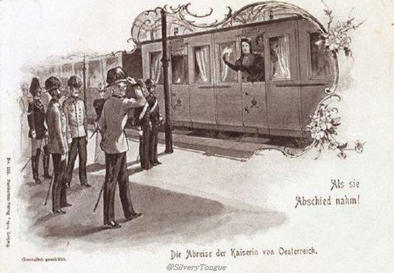 Franz Joseph saying farewell to Sissi