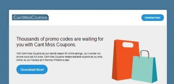 Ads by Cant Miss Coupons ist ein böse Adware-Programm, das heimlich in der kompromittiertenPC bekommt und Ruinen die Gesamtleistung