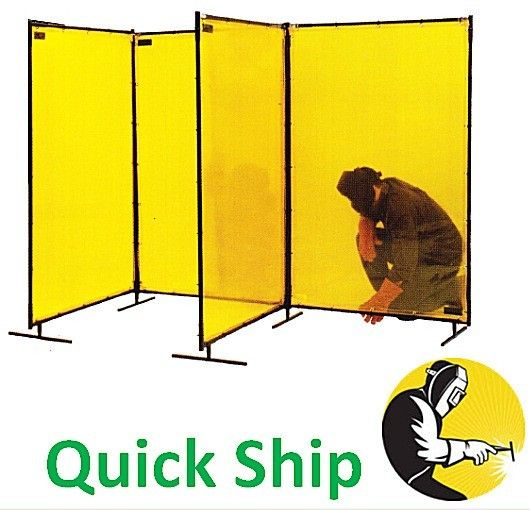 Portable Welding Curtains Opaque Yellow Welding Screens