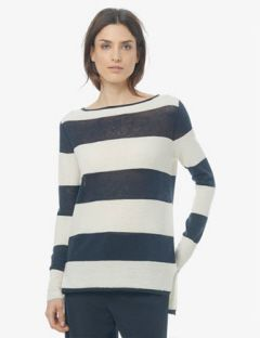 VINCE Superwash Ottoman Stitch Stripe Sweater