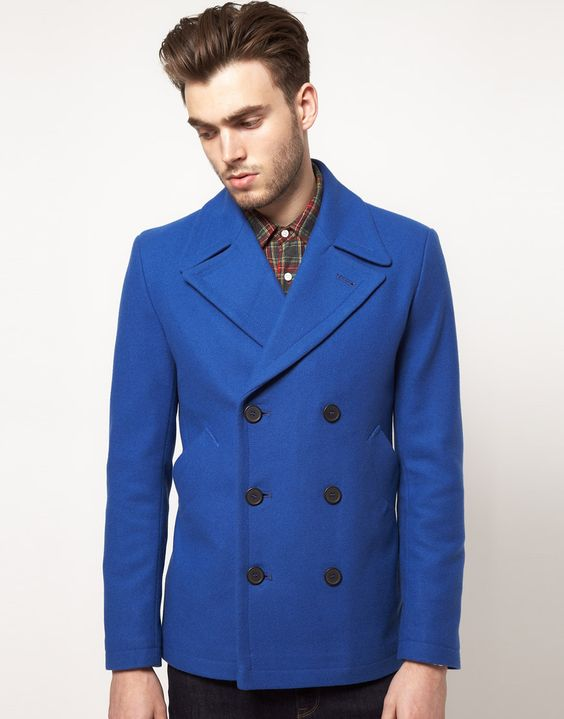 Bright blue peacoat | Coats | Pinterest | Coats, Nyc and Colors