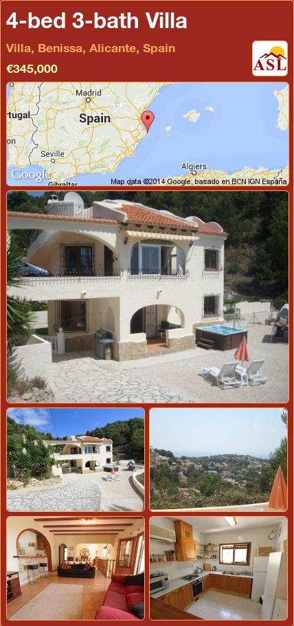 4-bed 3-bath Villa in Villa, Benissa, Alicante, Spain ►€345,000 #PropertyForSaleInSpain
