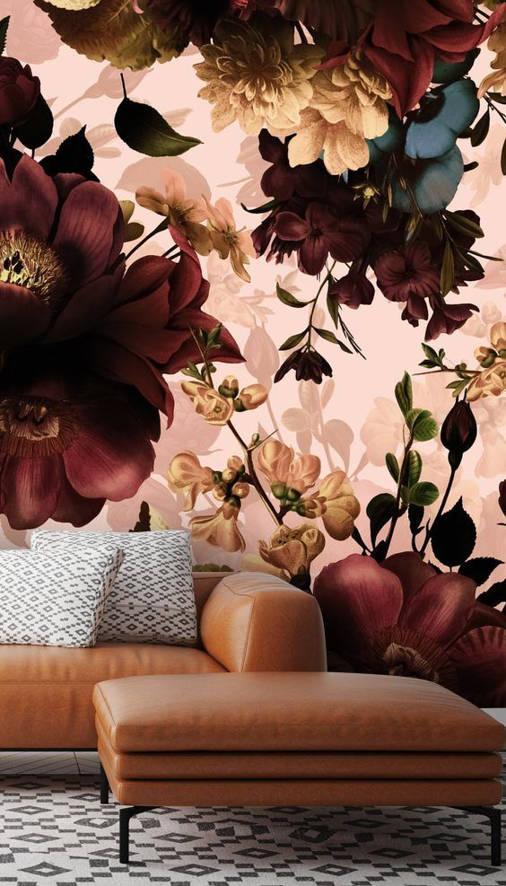 Gothic Bouquets Dark Floral Wallpaper Murals By Uta Naumann Wallsauce Uk Floral Wallpaper Bedroom Wall Wallpaper Mural Wallpaper