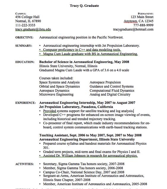 Aeronautical Engineering Resume Sample - http\/\/resumesdesign - chemical technician resume