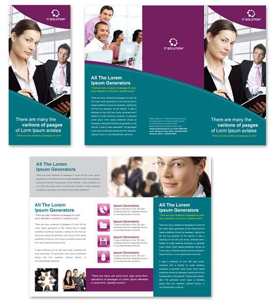 Contractor Brochure Template brochures Pinterest Brochure - pamphlet sample