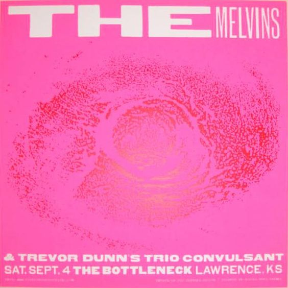 The Melvins concert poster