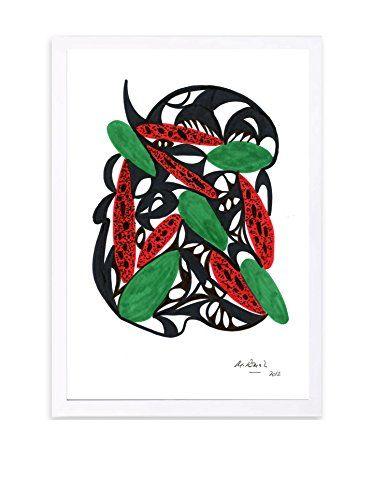 """Manuel Roman """"Watermelon Still Life"""" Framed Art, Multi"""