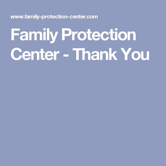 Family Protection Center - Thank You