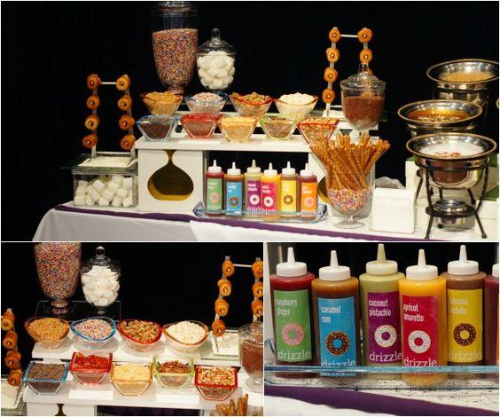 Wedding Reception Food Station Ideas: Donut Bar, Unique And Glaze On Pinterest