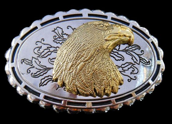 Eagle North America Nature Prey Birds Wild Eagles Head Large Golden Belt Buckles #Coolbuckles #Casual   6.5x10cm    16$