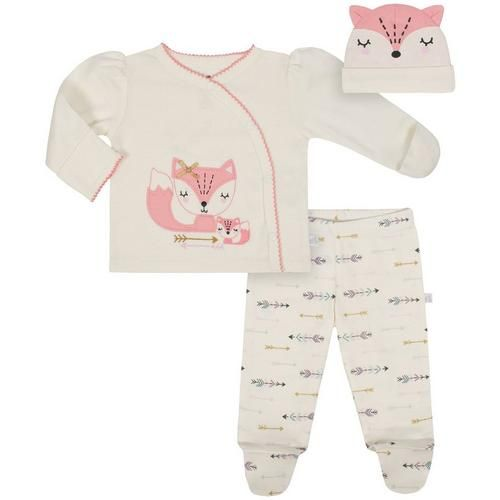 Cap Bodysuit Pink Sheep Shirt 4-Piece Set Luvable Friends Girl Preemie Pant