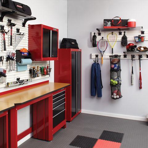 Craftsman Versatrack 20 Piece White And Black Composite Storage Rail System At Lowes Com Storage Garage Makeover Garage Work Bench