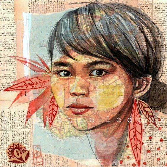 Le thanaka -  Birmanie.  Stephanie LeDoux: