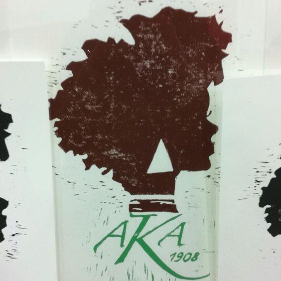 Alpha Kappa Alpha Block Print 11X14 $30
