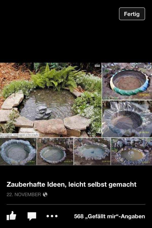 Teich aus traktorreifen garden pinterest for Gartenteich aus reifen
