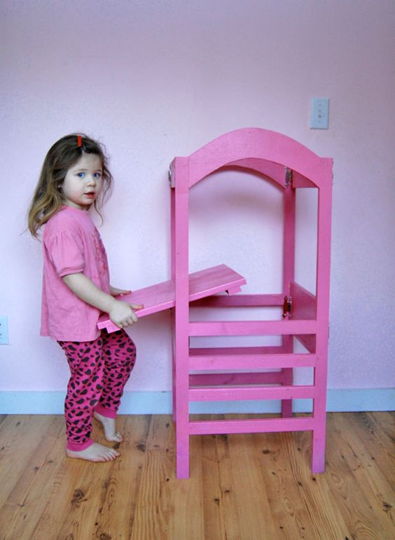 folding adjustable height step stool 1