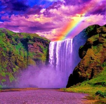 A colorful waterfall and rainbow | Amazing photography ... - photo#29