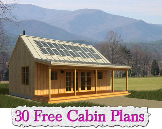 30 free cabin plans for Self sufficient house plans