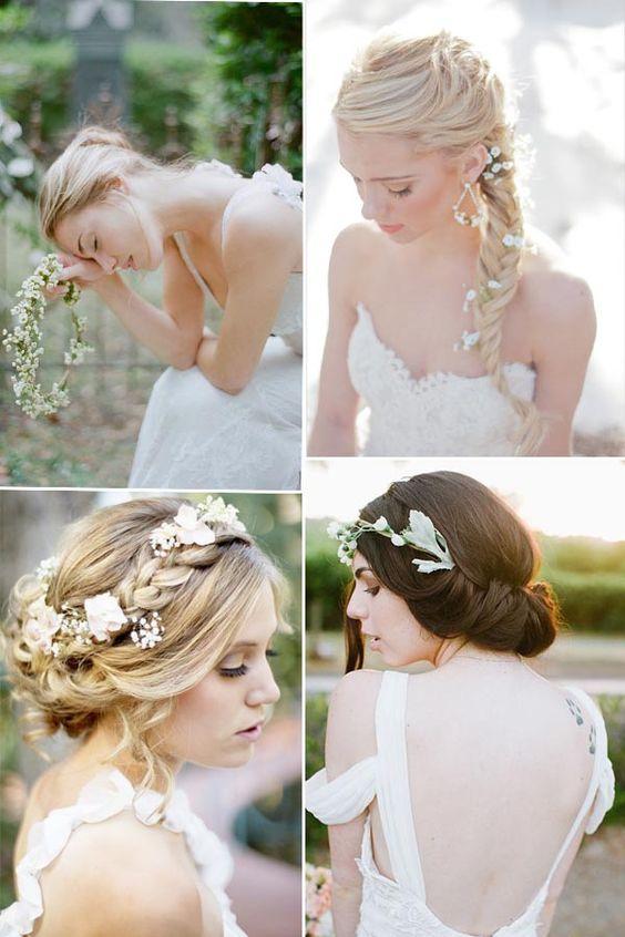 kleine Blume Hochzeitsfrisur Braut Haar Style Hochzeit Brautfrisur Style: Romantische Blume im Haar