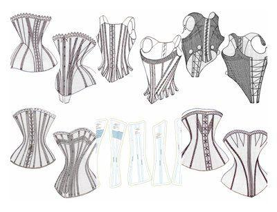PATTERN! Six free corset patterns. Downloadable zip file.