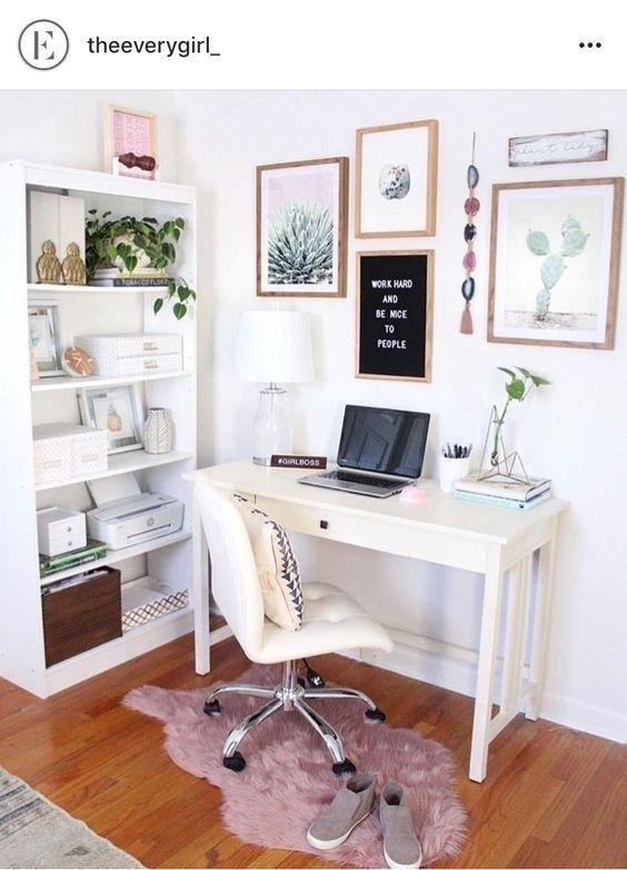 57 Top Best Home Office Organization Ideas 2019 Pink Home Offices Home Office Decor Small Home Office