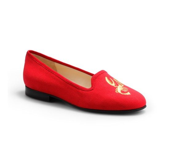 Seaside Embroidered Linen Flats